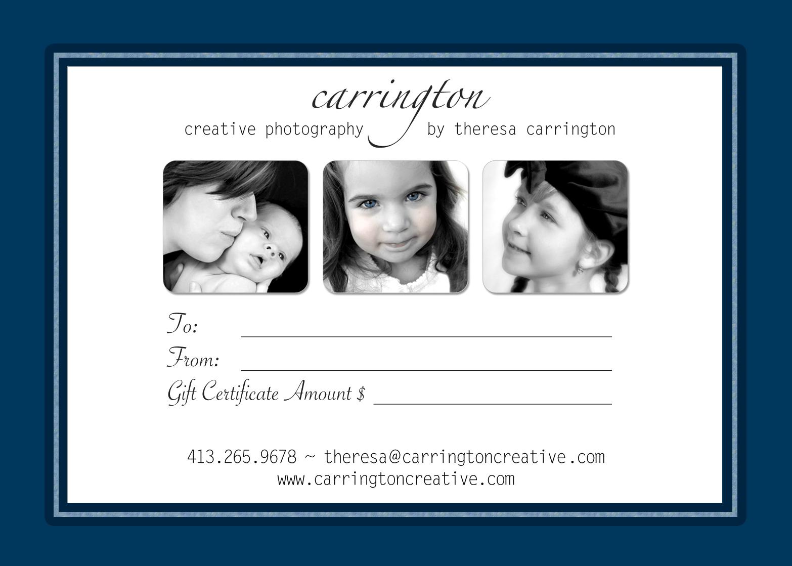 gift certificate to capture a special moment in time consider a gift    Photography Gift Certificate Ideas